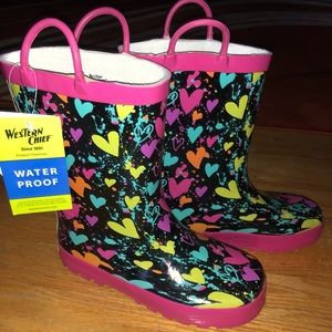 girls western chief rain boots new sz 1